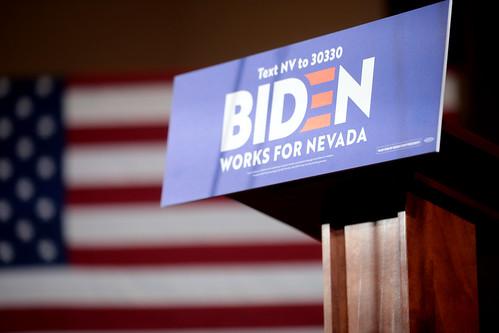 Joe Biden podium by Gage Skidmore, on Flickr
