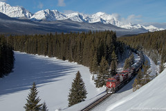 CP 8876 ~ Storm Mountain (Chris City) Tags: train railway railroads mixed freight diesel snow mountains vancouver olympics river cp cpr