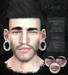 ELEVEN - Eyebrows v3 @ Salon 52 (Master Glendevon) Tags: sl secondlfie second life eyebrows face omega lelutka bom baked mesh event
