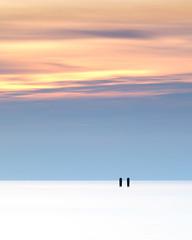 Less is more! (karindebruin (OFF FOR A WHILE)) Tags: minimalistic minimal nieuwhaamstede zeeland zonsondergang beach breakwaters duinen dunes golfbreker palen poles sand strand sunset zand