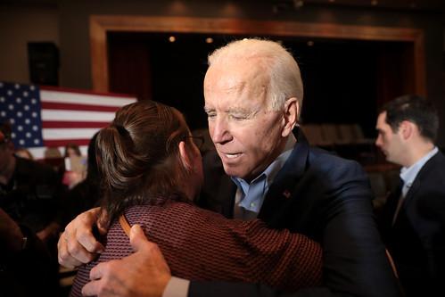 Joe Biden with supporter by Gage Skidmore, on Flickr