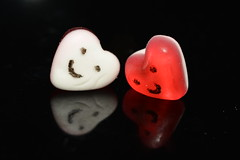 Sweethearts! (suekelly52) Tags: smileonsaturday jellies hearts sweets blackbackground sweetsformysweet