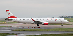 OE-LWF Austrian Airlines Embraer ERJ-195LR (ahisgett) Tags: manchester man ringway airliner