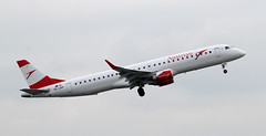 OE-LWF Austrian Airlines Embraer ERJ-195LR 3 (ahisgett) Tags: manchester man ringway airliner