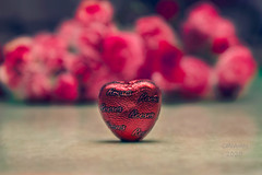 Sweets (Cristy McAuley) Tags: smileonsaturday chocolatehearts sweets flowers bokeh red sweetsformysweet chocolate peanutbutter