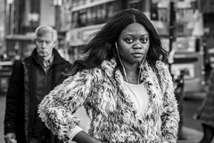 Fluff (Leanne Boulton) Tags: urban street candid portrait portraiture streetphotography candidstreetphotography candidportrait streetportrait eyecontact candideyecontact streetlife woman female girl face eyes expression mood feeling emotion hair style fashion fur furry coat fluffy tone texture detail depthoffield bokeh naturallight outdoor light shade city scene human life living humanity society culture lifestyle people canon canon5dmkiii 70mm ef2470mmf28liiusm black white blackwhite bw mono blackandwhite monochrome glasgow scotland uk