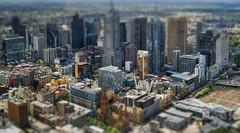 Melbourne, a toy city (Serge Aus) Tags: australia melbourne tiltshift skyscraper