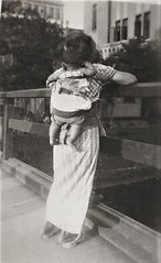 JAPAN 1940s (Donald Douglas) Tags: old japan mother child black and white post ww11
