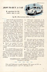1956 Volkswagen Beetle Aussie Original Magazine Advertisement (Darren Marlow) Tags: 1 5 6 9 19 56 1956 v volkswagen b beetle c car cool collectible collectors classic a automobile vehicle g germany german e european europe 50s