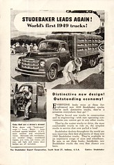 1949 Studebaker Truck Aussie Original Magazine Advertisement (Darren Marlow) Tags: 1 4 9 19 49 1949 s studebaker t truck c cool collectible collectors classic a automobile v vehicle u us usa united states american america 40s