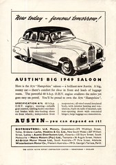 1949 Austin A70 Hampshire Saloon Aussie Original Magazine Advertisement (Darren Marlow) Tags: 1 4 7 9 19 49 1949 a 70 a70 austin h hampshire s saloon c car cool collectible collectors classic automobile v vehicle e english england b british britain 40s