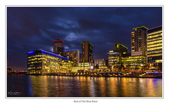 End of the Blue Hour (Kev Walker ¦ Thank You 4 Comments n Faves) Tags: architecture city england manchester mediacity panorama river salfordquays ship sky water blue bridge britain british broadcasting buildings canal cityscape commercial design dock dusk europe evening footbridge landmark lowry media metropolitan modern night offices places quay quays quayside radio reflection residential salford shipcanal skyline studios travel tv twilight uk urban