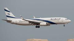 El Al B738, 4X-EKI, TLV (LLBG Spotter) Tags: elal aircraft b737 tlv airline sundor 4xeki llbg