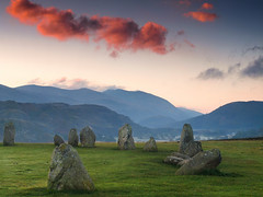 Mystical Castlerigg (jeff.dugmore) Tags: england britain uk europe cumbria lakedistrict keswick castlerigg mountain mountainside castleriggstonecircle stonecircle mystical ancient neolithic history englishheritage nationaltrust rural landscape nature outside outdoors clouds light goldenhour tranquil serene grass green shadows hillside hillwalking sky blue stones scenic nationalpark lakedistrictnationalpark countryside