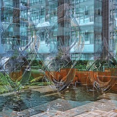 Water Sculpt Opacity (unclebobjim) Tags: tedmcgrath 2018 vancouver eyesonthestreet art fountain stainlesssteel inspirational 3layercomposite hdrcomposite greatphotopro squarecrops