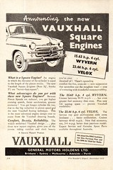 1953 Vauxhall Velox & Wyvern Sedan Aussie Original Magazine Advertisement (Darren Marlow) Tags: 1 3 5 9 19 53 1953 v vauxhall velox w wyvern s sedan c car cool chrome collectible collectors classic a automobile vehicle g m general motors gm e english england b british britain 60s
