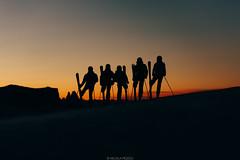 Sunset squad (Nicola Pezzoli) Tags: italy italia val gardena bolzano dolomiti dolomites mountain montagne ski sci snow neve winter inverno gröden seura monte pana sunset tramonto silhouette squad sciliar