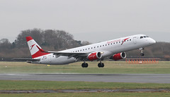 OE-LWF Austrian Airlines Embraer ERJ-195LR 2 (ahisgett) Tags: manchester man ringway airliner