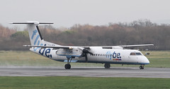 G-JECK Flybe Bombardier DHC-8-402Q Dash 8 2 (ahisgett) Tags: manchester man ringway airliner bombardier de havilland canada