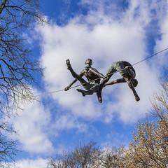 Suspension_DSC0162 (GmanViz) Tags: gmanviz color sonya6000 sculpture art kinetic schillerpark germanvillage columbus ohio jerzykędziora