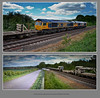 Traction movements at Barrow Hill, Foxlow Junction & Slitting Mill - 8736+8739/40