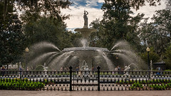 Forsyth Fountain (stephendricks) Tags: forsyth park fountain georgia savannah savanah tree trees water