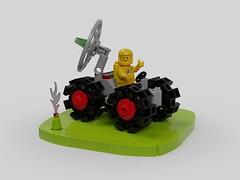 Radar Rover (David Roberts 01341) Tags: lego buggy rover classicspace ldd mecabricks render spaceman toy fun vehicle febrovery