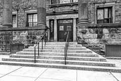 Yale Dept of Psychology BW (Susan Candelario) Tags: bulldogs ct collegiategothic connecticut education ny newengland newhaven newyork northamerica oldfashioned privateivyleague psychology socialscience susancandelario usa unitedstates yale yaleuniversity yalies almamater antique antiques architectural architecture classic college collegetown department door doors doorway entrance exit institution land residential scenery school schools undergraduate university urban vintage yu