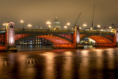 St Paul's and Southwark Bridge (Malamute01) Tags: st pauls southwark bridge thames uk london night no cash long exposure