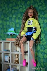 giovanna on the shelf (photos4dreams) Tags: barbie mattel doll toy diorama photos4dreams p4d photos4dreamz barbies girl play fashion fashionistas outfit kleider mode puppenstube tabletopphotography aa beauties beautiful girls women ladies damen weiblich female ebay keyla afroamerican darkskin africanamerican bmr1959 collectors