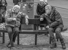 Two old guys in Norwich. (Tony Smith Photo's) Tags: black man white adult age aged attractive background blackwhite blackandwhite blackandwhitephotography blackandwhitephotos casual city citylife citystreet classic day elderly everydaycitylife face friends friendship grandfather guy happy holiday lifestyle lifestyles looking male mature men monochrome old olderman outdoor outdoors pensioner people person philosophic photo photography picture rest senior shoot sitting street streetphotography streetstyle tourism tourist town travel trip two urban urbanscene wise
