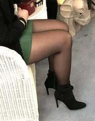 MyLeggyLady (MyLeggyLady) Tags: sex hotwife milf sexy secretary teasing miniskirt stockings nylons thighs boots cfm stiletto legs heels