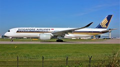 9V-SMK (AnDyMHoLdEn) Tags: singaporeairlines a350 staralliance egcc airport manchester manchesterairport 23l