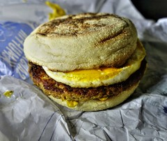 Sausage and Egg McMuffin (Tony Worrall) Tags: uk england food photos things grub foodie photograff menu dish cook tasty plate eaten made eat foodporn taste dishes cooked iatethis plated foodpictures picturesoffood make cuisine yummy nice x meal tasted flavour foodstuff nourishment provisions freshtaste nutritional ingrediants nutriments foodophile store meals chow snacks diet bites eatable foodstuffs fare fodder refreshment cookery ration sustenance instagram ilobsterit forsale egg stock cost sausage meat mcdonalds buy mcmuffin sell bun
