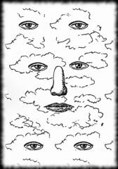 Dessin (face nuageuse) (jeanraoulb) Tags: arts artsmagrittepeinture