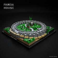 PANDA HOUSE (carlierti.lego) Tags: lego panda house bjarke ingels architecture big builds micro microscale archi copenhagen