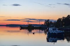 Peaceful summer night (Arttu Uusitalo) Tags: sea seaside seashore seascape boat ferry kaskinen kaskö ostrobothnia finland june summer night nightscape dusk canon 5d mkiv sunset calm twilight