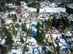 Tilt-Shift: Snowy Salem (Phiery Phoenix Photography) Tags: phiery phoenix phieryphoenix phieryphoenixphotography photography dji djispark spark uas suas small unmanned aerial aircraft system drone drones winter wintertime new newhampshire hampshire newengland england salem snow snowy trees tree house residential residence frozen pond water arlington arlingtonpond sky airspace tilt tiltshift shift town