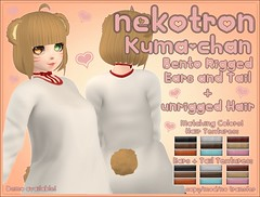 [Nekotron] Kuma-chan (Eliih1994 Resident) Tags: kawaii bdsm cute moe nekotron secondlife second life kuma bear anime manga utilizator bento rigged tail ears mesh hair ahoge