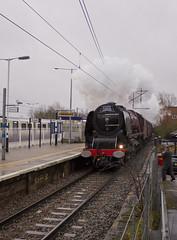 Duchess no.46233 'Duchess of Sutherland' (alts1985) Tags: duchess no46233 sutherland main line steam train rytc the valentines white rose knebworth ecml 150220 storm dennis