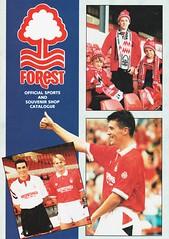 Nottingham Forest - Souvenir Shop Catalogue - 1991/92 - Cover Page (The Sky Strikers) Tags: nottingham forest official sports souvenir shop catalogue the city ground 1991 1992