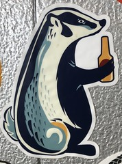 Badger Beer (rabidscottsman) Tags: scotthendersonphotography sticker badger badgerbeer animal streetsticker holdingabeer brewery iphone appleiphone iphone8 flickr instagram socialmedia usa unitedstatesofamerica