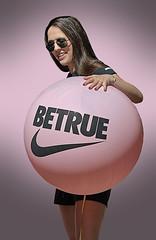 Betrue Swoosh (Scott 97006) Tags: woman female lady balloon swoosh shorts cute pink