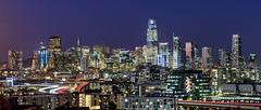 Welcome to Metropolis (drasphotography) Tags: san francisco cityscape california nightshot nachtaufnahme long exposure travelphotography skyline reisefotografie panoramic postcardshot drasphotography urban metropolis lighttrails