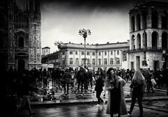 Piazza del Duomo | Milan (max tuguese) Tags: milan lombardy italy duomo piazza black white blanc noir schwarz weis bianco nero blanco negro noiretblanc monochrome flickr explore maxtuguese people dark life photographer outdoor funny nikon d3400 1870 dove streetlife cityscape national