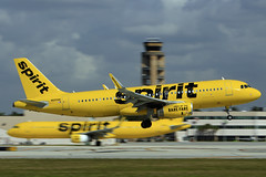 Spirit Airlines N655NK (taddzilla) Tags: spiritairlines spirit n655nk airbus airbusa320 320 320232 kfll fll jet landing plane wheelsdown flight aviation winglets 10r greenbeltpark browardcounty daniabeach florida 2020 allrightsreserved