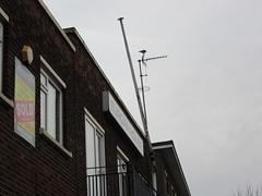 Europa House, 40 South Quay, Great Yarmouth, Norfolk (LookaroundAnne) Tags: gwuk flagpole aerial bird sky roof text europahouse broken southquay former viceconsulate office greatyarmouth yarmouth norfolk