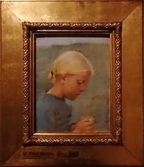 Anna Ancher - Little Girl with Flower - 1885 (Cederskjold - The Dane) Tags: annaancher smk art kunst skagen