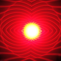 Set the controls for the heart of the sun (Kevin Kemmerer) Tags: red minimal minimalism abstract abstraction 3d printed print pla spiral vase bright center olympus tg6 tough camera simple lines curves space waves chevron
