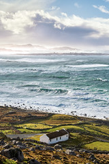 """Storm Denis Meets Donegal"" (Gareth Wray - 13 Million Views, Thank You) Tags: foot tours league gweedore bloody foreland heights inishsirrer island abandoned fishing crashing inish point bunbeg derrybeg cliffs storm emerald green waves tropical hurricane power sea cliff landscape landmark way sunset tourist attraction tourism reflections peninsula tour historic history visit nikon nikkor tele photo sigma lens wild atlantic donegal ireland irish scenic gareth wray photography day vacation 2020 stone lost manfrotto inisirrer brinlack d850 stormdenis denis 2470mm knockfola"